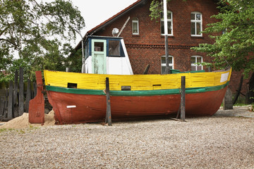Fisheries ship in Hel town. Hel Peninsula. Poland
