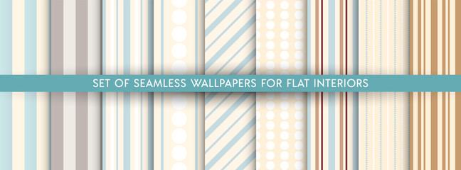 Fototapeta Set of vector wallpaper pattern obraz