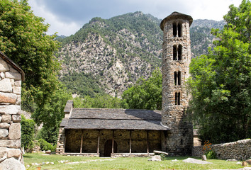 Pre-romanesque church of Santa Coloma at Andorra Principality