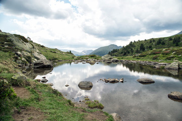 Tristaina high mountain lakes in Pyrenees, Andorra