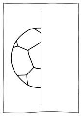 Spiegelbild malen – Fußball