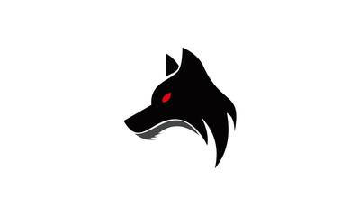 evil wolf face vector logo