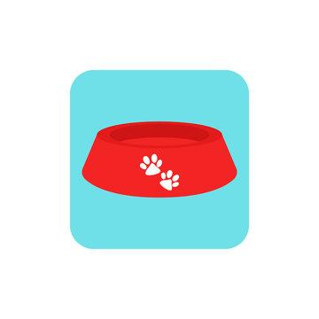 Bowl dog for food. Logo bowl dog. Vector illustration. EPS 10.
