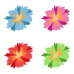 Flowers. Colorful flowers. Set of flower. Vector illustration. EPS 10.
