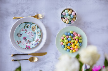 Chocolate eggs for easter lunch