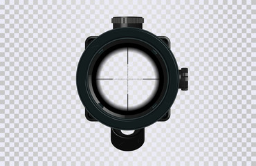 Sniper scope crosshairs in realistic style. Optical sight for your project. GUI element. Vector gaming template. Military and weapon Wall mural