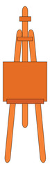 Simple orange easel vector illustration on white background