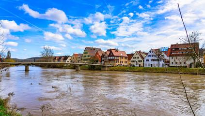 Cityscape of Rottenburg am Neckar