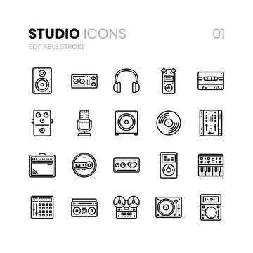 Studio Line Icons 01