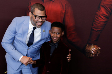 "Director Peele and actor Alex attend the ""Us"" premiere at The Museum of Modern Art in New York City, New York"