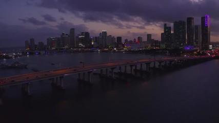 Fototapete - Miami downtown skyline buildings aerial