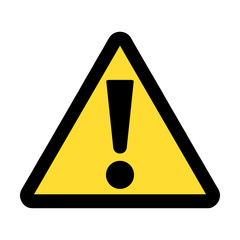 Yellow warning vector sign