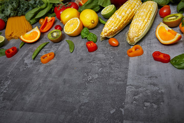 Wall Mural - Vegetables on stone table