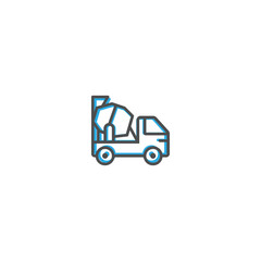 Concrete Mixer icon design. Transportation icon vector design