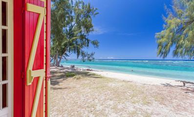 Vacances sur plage de l'Hermitage, île de la Réunion