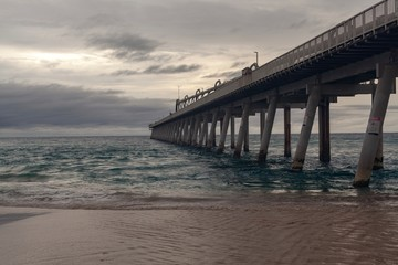 Canvas Prints Cappuccino Sand pumping jetty