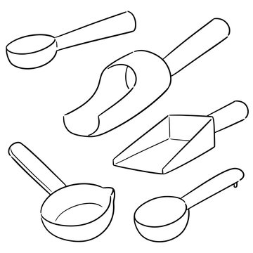 vector set of scoops