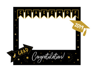 Photo booth props frame for graduation party