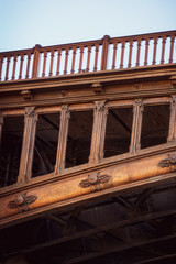 Old bridge detail golden iron, paris