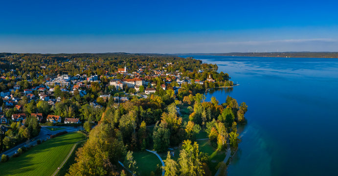 Tutzing on Lake Starnberg, Bavaria, Germany