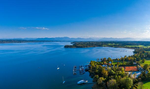 Lake Starnberg near Tutzing, Bavaria, Germany