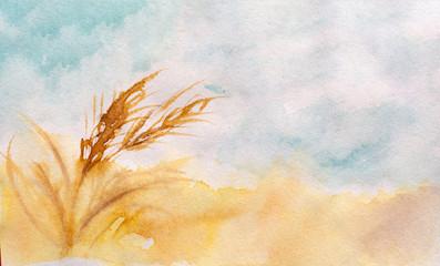 Paesaggio toscano in acquerello