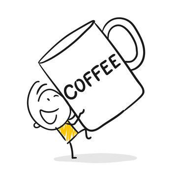 Strichfiguren / Strichmännchen: Coffee, Becher. (Nr. 360)