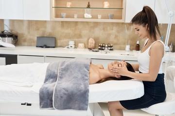 Professional treatment at beauty saloon