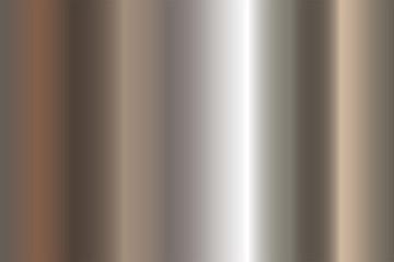 Seamless shiny metal gradient texture. Vector horizontal steel background. Wall mural
