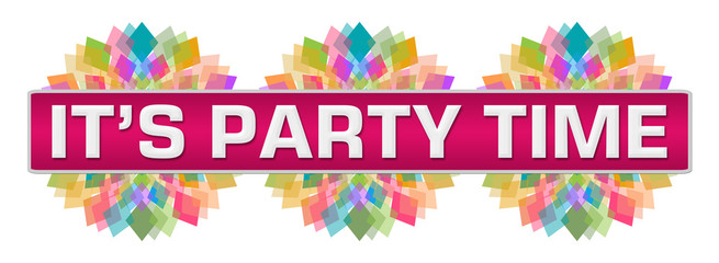 Its Party Time Pink Colorful Circular Bar