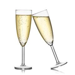 Fototapeta Kieliszek szampana na białym tle obraz