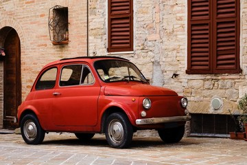 Photo sur Plexiglas Vintage voitures italian red vintage car