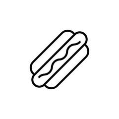 Hot dog icon vector. Hot dog vector design. sign design. flat style. Vector EPS 10