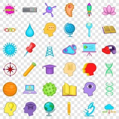 Creative working icons set. Cartoon style of 36 creative working vector icons for web for any design