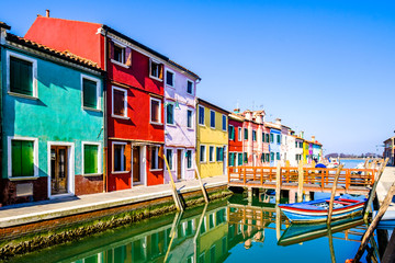 burano - famous old town - italy