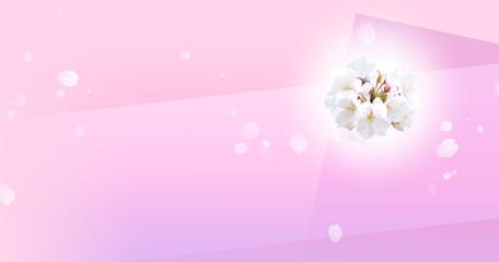 Wall Mural - 花びら舞う桜