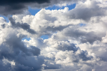 very cloudy sky background