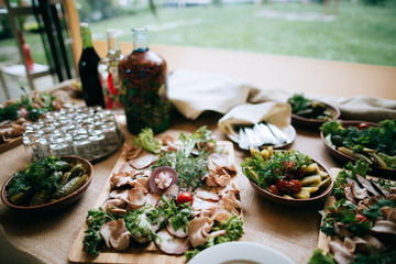 food in the restaurant, catering service outdoor