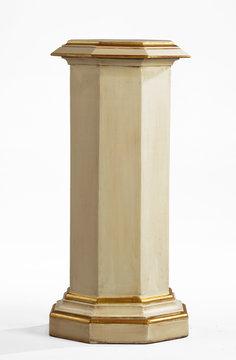 Pedestal column wooden for plant or statue