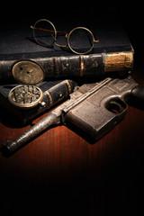 Vintage Still Life With Handgun