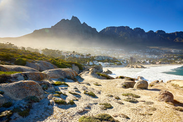 Great view over Camos bay, Cape town