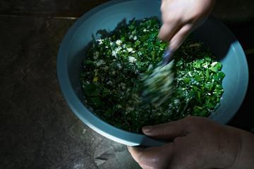 Mixing greens