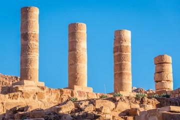 Columns of Great Temple in Petra ancient city in Jordan