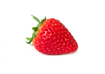 Isolated of red strawberry on white background. Clipping Path - Image