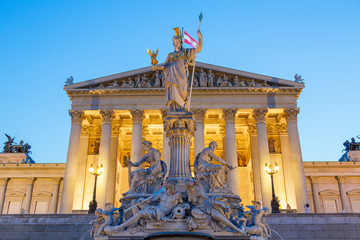Austria, Vienna, Parliament building