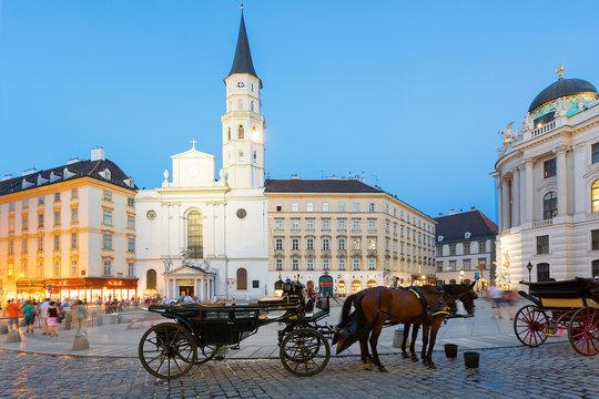 Horse carriage, Josefsplatz, Vienna, Austria