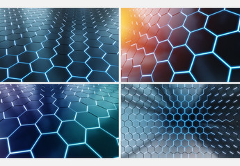 6 Hexagonal Backgrounds