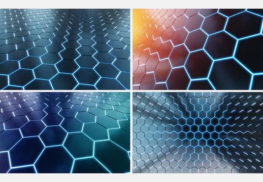 6 Hexagonal Backgrounds