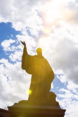 Saint Benedict statue in Nursia Italy
