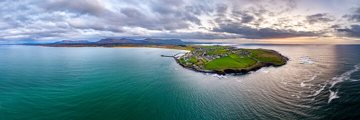 Aerial view of Mullaghmore Head - Signature point of the Wild Atlantic Way, County Sligo, Ireland Wall mural